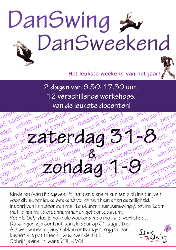 flyer dansweekend 2019