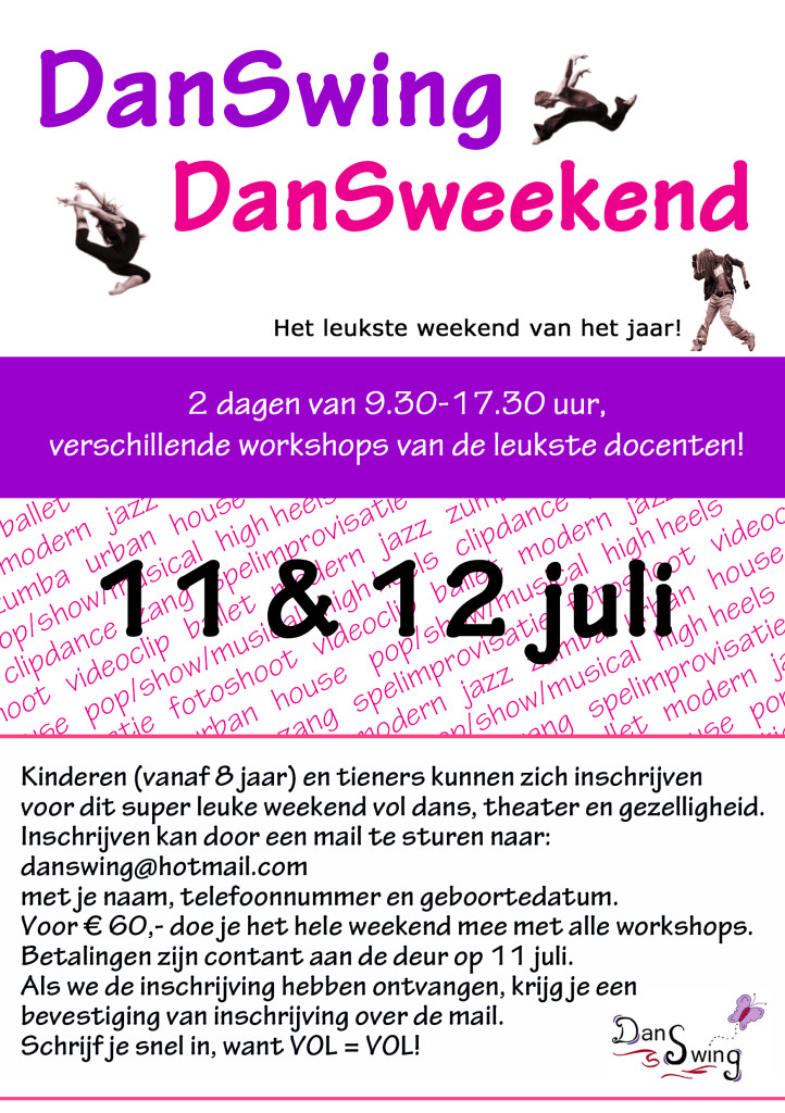 flyer dansweekend 2020